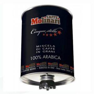 قهوه مولیناری پنج ستاره صد درصد عربیکا