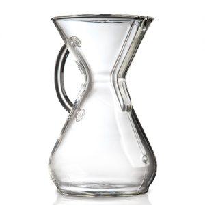 قهوه ساز کمکس مدل دسته شیشه ای هشت فنجان