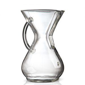 قهوه ساز کمکس مدل دسته شیشه ای شش فنجان