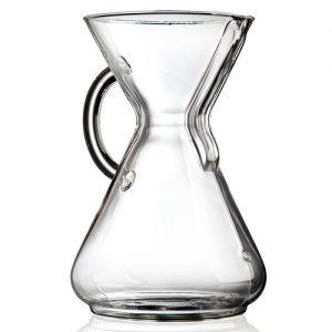 قهوه ساز کمکس مدل دسته شیشه ای ده فنجان
