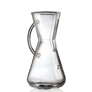 قهوه ساز کمکس مدل دسته شیشه ای سه فنجان
